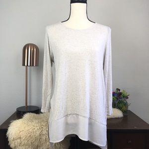 Stitch Fix Papermoon thin knit sheer panel tunic